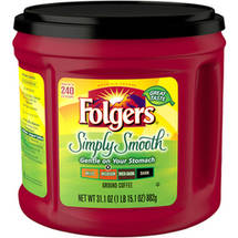Folgers Simply Smooth Medium Roast Ground Coffee