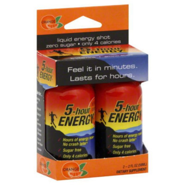 5-Hour Energy Orange Liquid Energy Shot- 2 PK