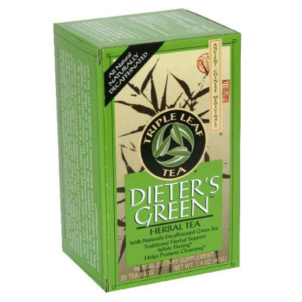 Triple Leaf Tea Dieter's Green Tea Bags - 20 CT