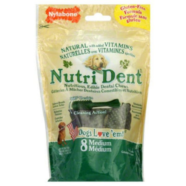 Nylabone Dog Treats Nutri Dent Medium - 8 CT