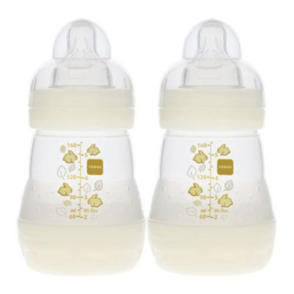 Mam Anti Colic Baby Feeding Bottles Slow Flow