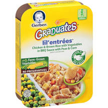 Gerber Graduates Lil& Entrees Chicken & Brown Rice with Vegetables in BBQ Sauce with Peas & Corn
