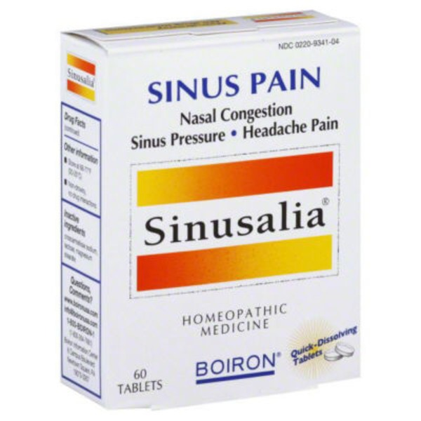 Sinusalia Sinus Homeopathic Medicine Quick-Dissolving Tablets - 60 CT