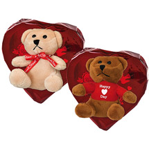 Russell Stover Valentine Heart Candy with Bear
