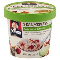 Quaker Real Medleys Real Medleys Apple Walnut Oatmeal