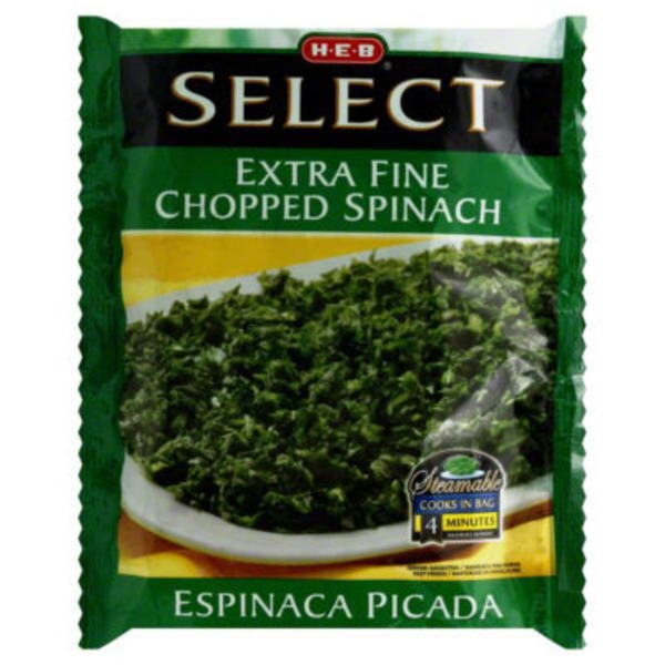 H-E-B Select Extra Fine Chopped Spinach