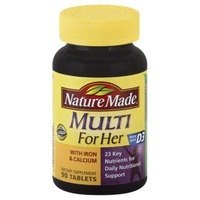 Nature Made Multi For Her with Iron & Calcium Dietary Supplement Tablet - 90 CT