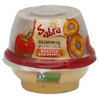 Sabra Roasted Red Pepper Hummus with Rold Gold Pretzels Dip