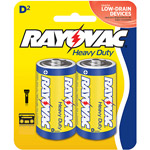 Rayovac Heavy-Duty Zinc D Batteries