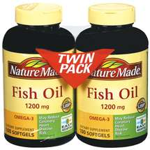 Nature Made Fish Oil Omega-3 Softgels 100 ct each