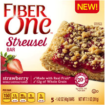 Fiber One Strawberry Streusel Bars