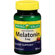 Spring Valley Melatonin Strawberry Flavor Dietary Supplement Fast-Dissolve Tablets