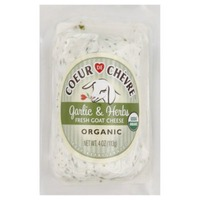 Coeur De Chevre Garlic & Herbs Organic Fresh Goat Cheese,