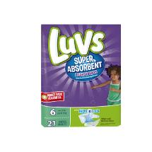 Luvs Super Absorbent Diapers Size 6
