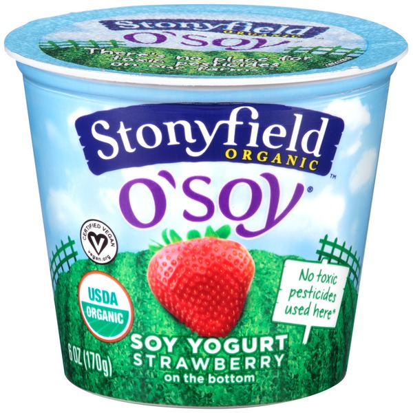 Stonyfield Organic O'Soy Fruit on the Bottom Strawberry Organic Soy Yogurt