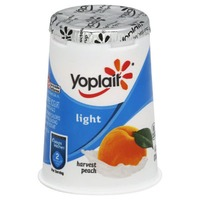 Yoplait Light Harvest Peach Fat Free Yogurt