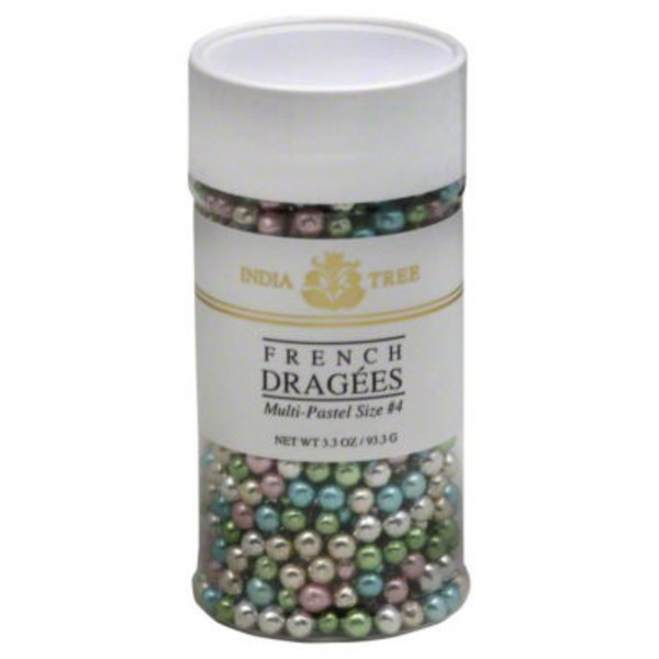 India Tree French Dragees, Multi-Pastel Size No. 4