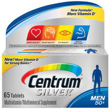 Centrum Silver Men's 50+ Multivitamin/Multimineral Supplement Tablets