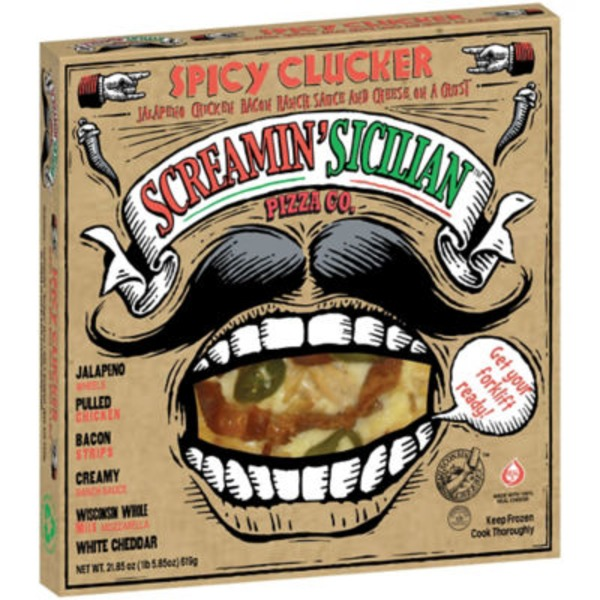 Screamin' Sicilian Spicy Clucker Pizza