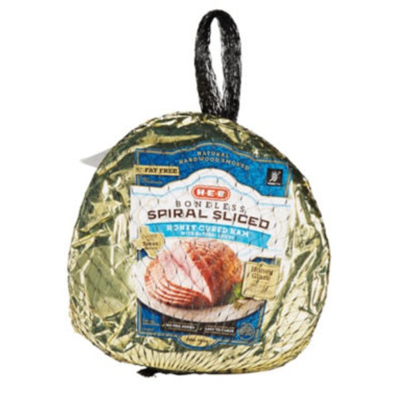 H-E-B Boneless Spiral Sliced Honey Cured Ham