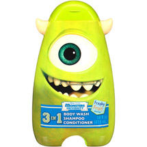 Disney Pixar Monster University Scary Berry/Freaky Fruit/Wacky Bubble Gum 3 in 1 Body Wash Shampoo & Conditioner 14 fl oz (Character and Scent Will Vary)