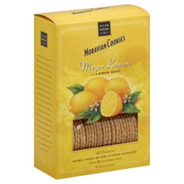 Salem Baking Company Moravian Cookies Meyer Lemon