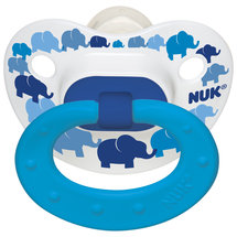NUK Fashion Elephants or Butterflies Orthodontic Silicone Pacifier Size