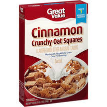 Great Value Cinnamon Crunchy Oat Squares Cereal