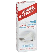 Adams Extract Clearvan Imitation Vanilla Extract