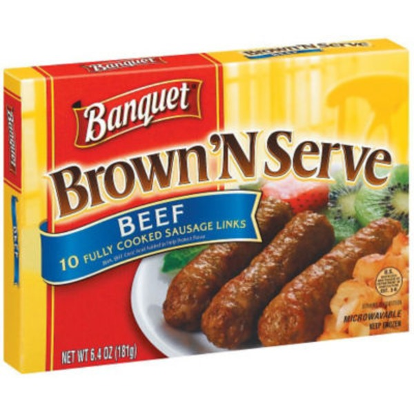 Banquet Links Beef 10 Ct Sausage
