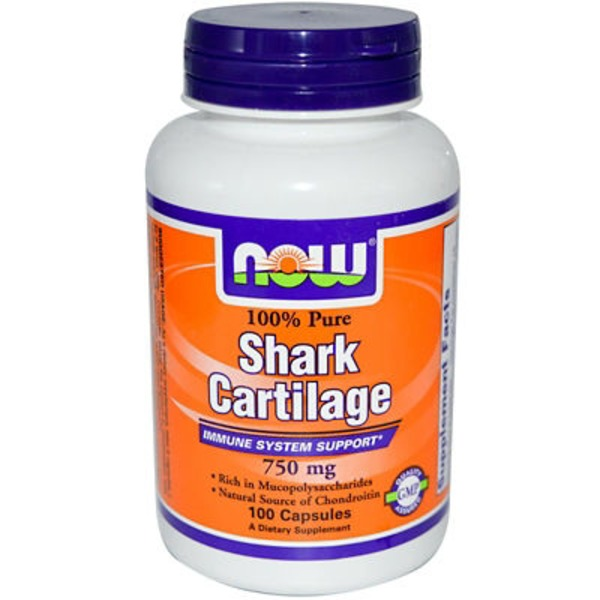 Now Shark Cartilage 750 mg Capsules