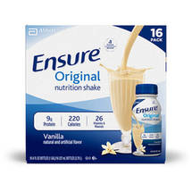 Ensure Homemade Vanilla 8 fl oz Bottles Balanced Nutrition Shake 16 ct