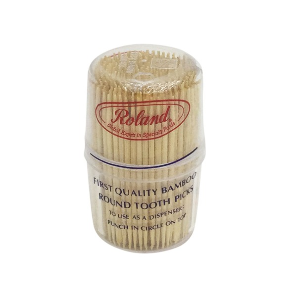 Roland First Quality Bamboo Round Tooth Picks