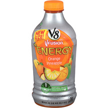 V8 Fusion + Energy Orange Pineapple Vegetable & Fruit Juice