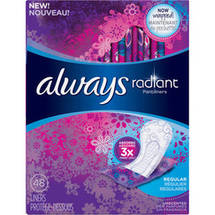 Always Radiant Pantiliners Regular Length Unscented