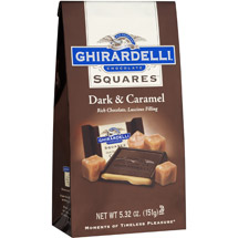 Ghirardelli Chocolate Squares 60% Cacao Dark Chocolate W/Caramel Chocolate