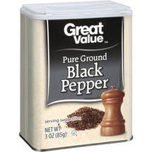Great Value Pure Ground Black Pepper
