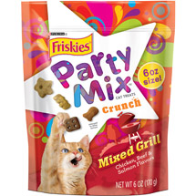 Purina Friskies Party Mix Crunch Mixed Grill Cat Treats
