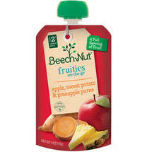 Beech-Nut Stage 5 Fruities On-The-Go Apple Sweet Potato & Pineapple Puree Baby Food