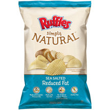 Ruffles Sea Salted Reduced Fat Natural Potato Chips
