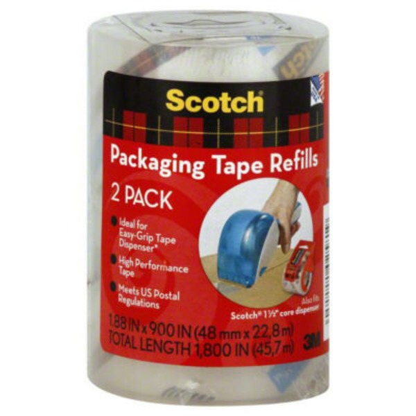 Scotch Shipping Packaging Tape Refills - 2 CT