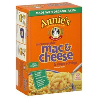 Annie's Homegrown Microwavable Mac & Cheese Real Aged Cheddar MicroMac Mac & Cheese