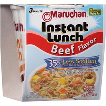 Maruchan Instant Lunch 35% Less Sodium Beef Flavor Ramen Noodles with Vegetables