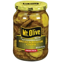 Mt. Olive Bread & Butter Chips Old Fashioned Sweet Fresh Pack Pickles