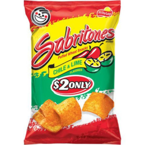 Sabritones Chile & Lime $2 Only Puffed Wheat Snacks