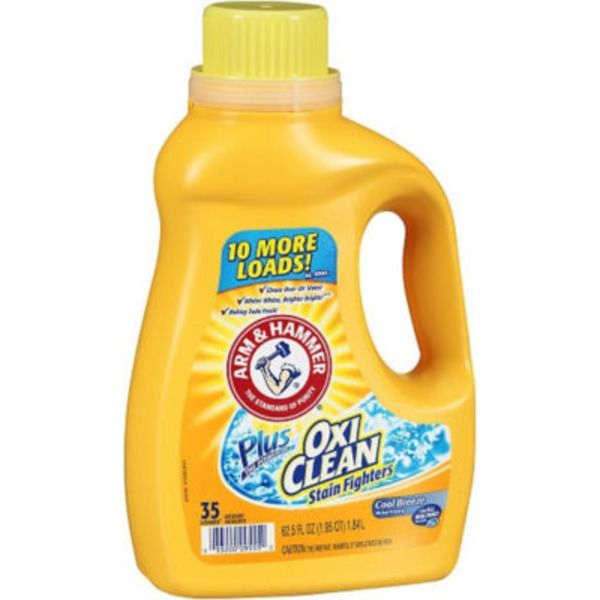 Arm & Hammer Plus OxiClean Stain Fighters Cool Breeze Liquid Laundry Detergent