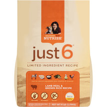 Rachael Ray Nutrish?? Just 6?? Lamb Meal & Brown Rice Recipe Dog Food