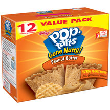 Kellogg's Pop-Tarts Gone Nutty! Peanut Butter Toaster Pastries