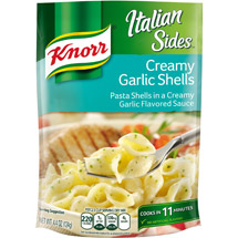 Knorr Pasta Sides Creamy Garlic Shell Noodles & Sauce