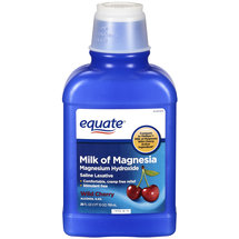 Equate Milk of Magnesia Laxative Cherry Flavor